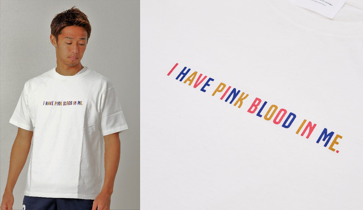 I HAVE PINK BLOOD IN ME TEE(ホワイト)